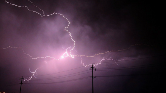 Explain the factors that damage the cable line of the lightning arrester due to lightning strikes.
